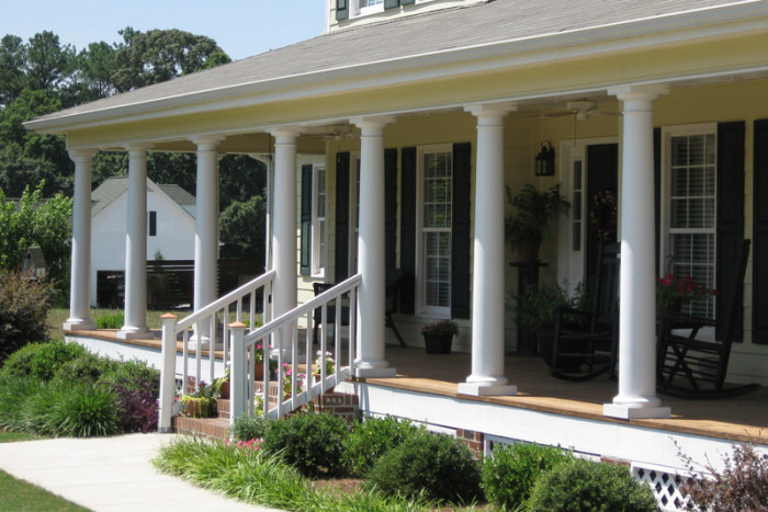 Porch columns products for Fiberglass interior columns